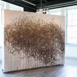 "Kate Stewart, ""la foret"", 2016, Walnut ink installation mural, Dimensions variable"