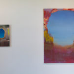"Kate Stewart, ""Afternoon Apparition"" (left) and ""Canyon"" (right)"