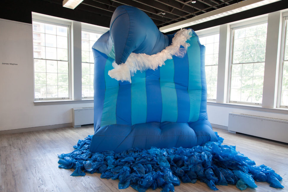 "Jaimes Mayhew, ""The Wave of Mutilation"", 2015, Inflatable sculpture, 8' x 7' x 12'"